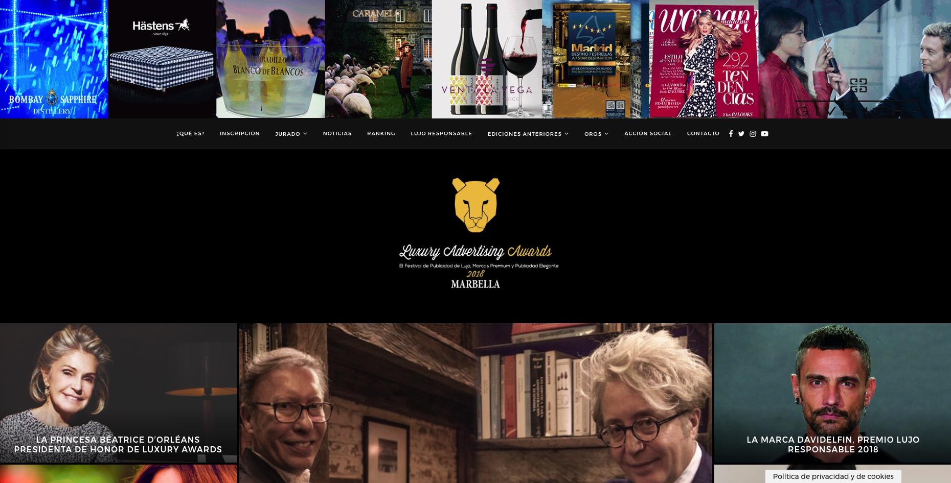 Premios Luxury Advertising Awards