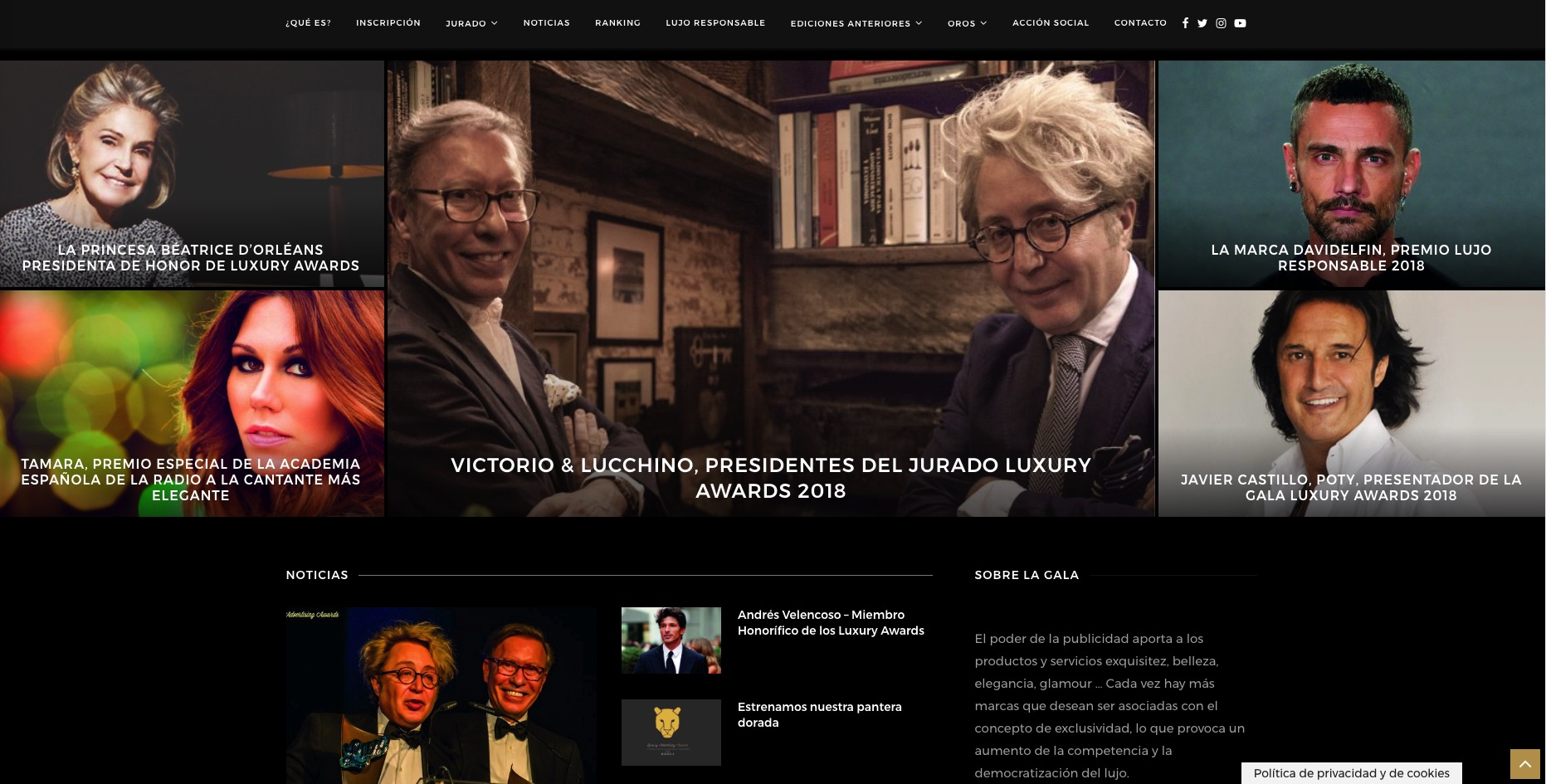 Premios Luxury Advertising Awards